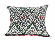 "Moroccan Cushion Vintage Kilim Stuffed  Wool  50 cm x 38 cm / 20"" x 15"" (VC316)"